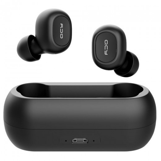 QCY T1C TWS Dual Bluetooth 5.0 Earphones with Mic Charging Box Noise Reduction