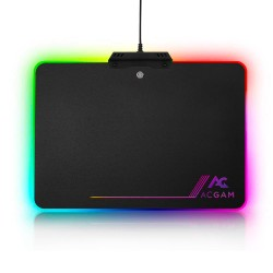 ACGAM P09 RGB Lighting USB 2.0 Hard Gaming Mouse Pad - Black