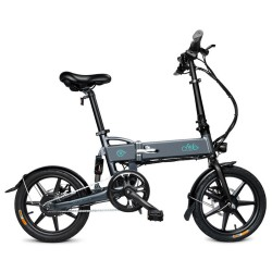 FIIDO D2 Folding Electric Moped Bike Three Riding Modes 16 Inch Tires 250W Motor 25km/h 7.8Ah Lithium Battery 20-35KM Ra