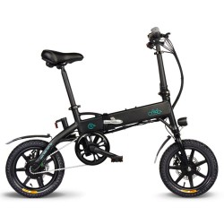 FIIDO D1 Folding Electric Moped Bike - 7.8Ah Lithium Battery