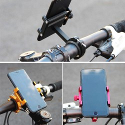 Aluminum alloy bicycle mobile phone fixture for KUGOO scooter-black