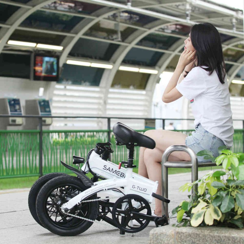 Samebike YINYU14 Smart Foldable Moped Electric Bike 250W motor 8Ah battery  - GEEKMAXI.COM