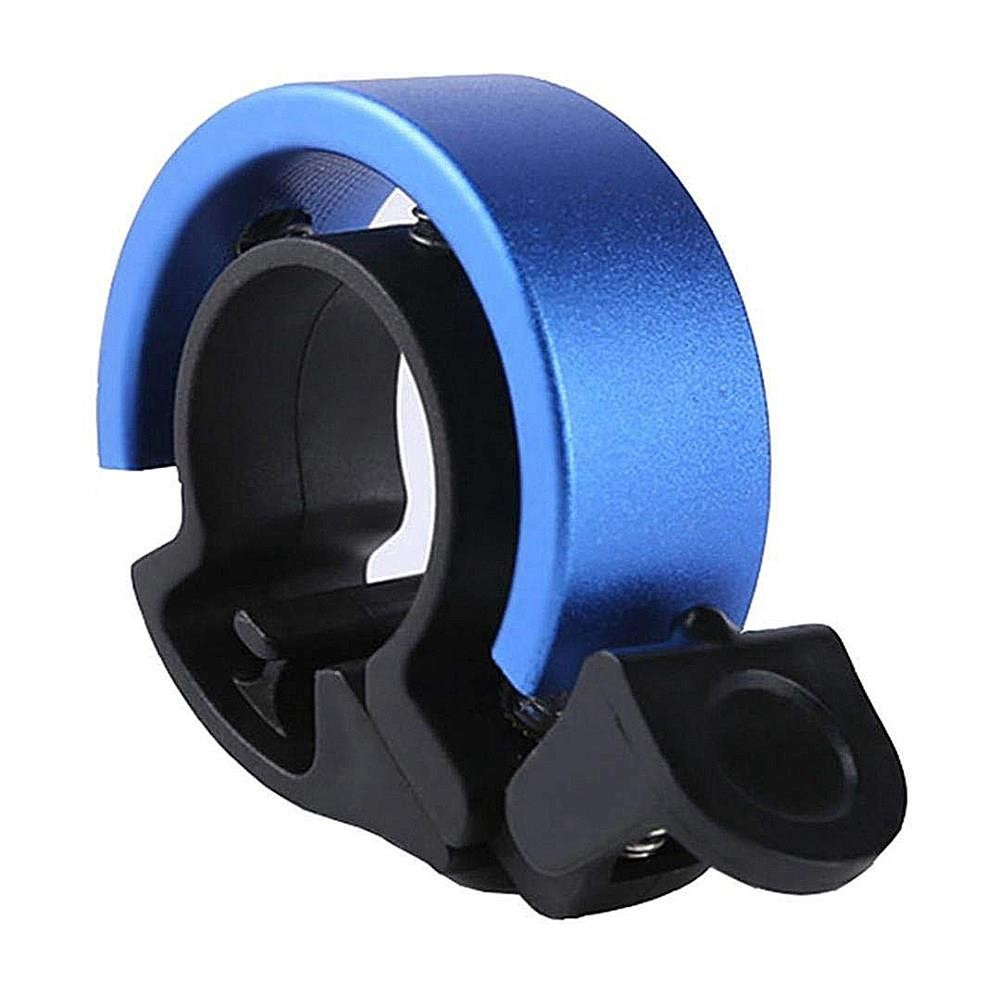 Q Design Bicycle Bell Aluminum Alloy Handlebar Bell Safety Alarm Horn 22.2-22.8 mm Ringbell - Blue