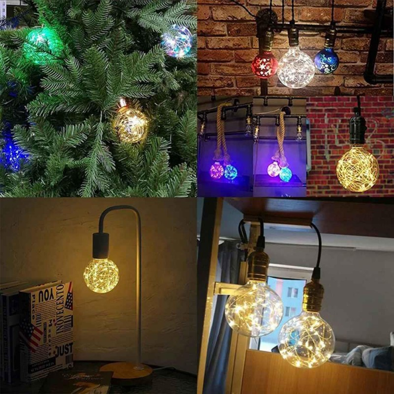 Edison G95 Gypsophila E27 Decorative Bulb Led Copper Wire Bulbs Christmas Decoration Lights Rgb Eu Plug Geekmaxi Com
