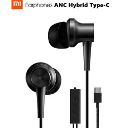Original Xiaomi ANC Earphones Hybrid Type-C Charging-Free Mic Line Control for Xiaomi Mi6 MIX Note2 Mi5s /Plus Mi5