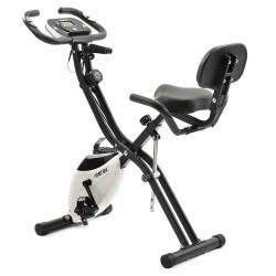 Merax X-Bike Magnetic Folding Fitness Bike 2.5 kg Flywheel LCD Display For Cardio Workout Cycling - Black