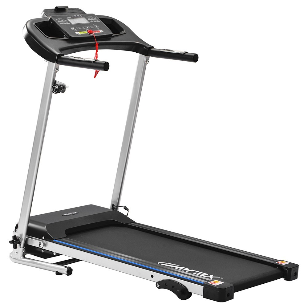 Merax Folding Electric Treadmill 500W Motor Speed Up To 12km/h 12 Automatic Programs 3 Incline Levels LCD Display