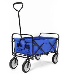 Merax Foldable Hand Cart 150kg Capacity Canvas Fabric Utility Wagon