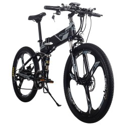 RICH BIT TOP-860 faltbares elektrisches E-Mountainbike mit 12,8 Ah Lithiumbatterie & LCD-Display